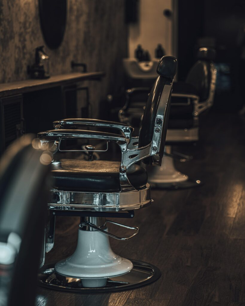 leather barber shop chair